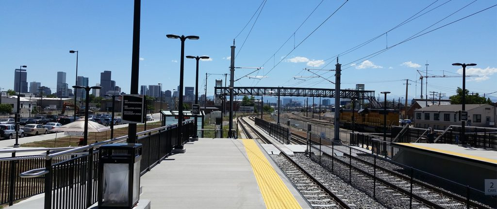 Denver RTD train station platform