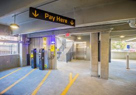 Parking garage pay station