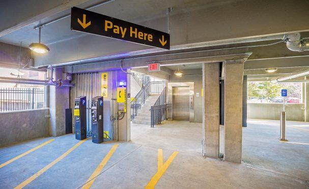 Parking garage pay station