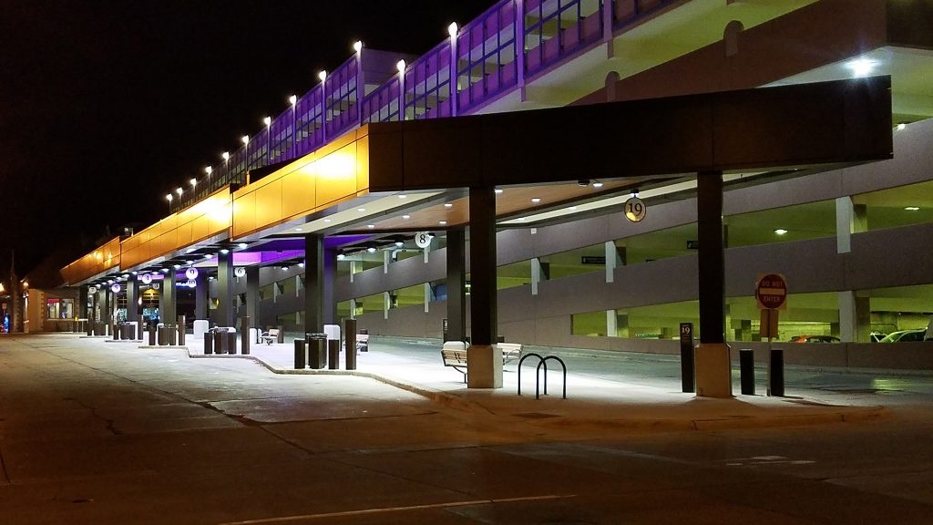 Sioux Falls Transit Center at night