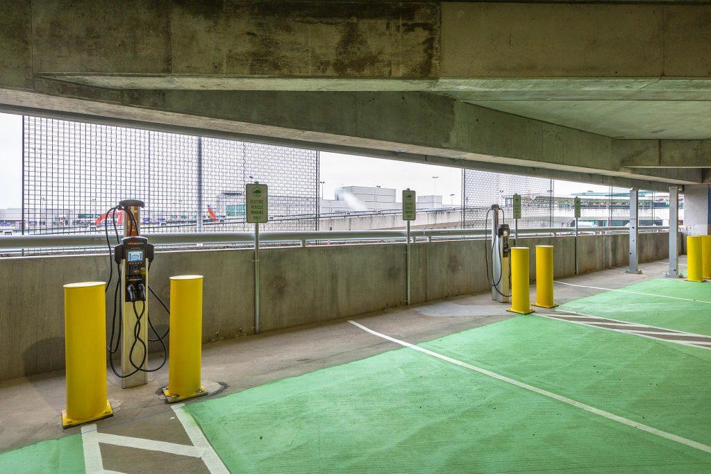 EV charging stations inside Terminal Garage