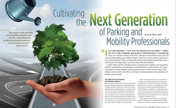 Page from July issue of Parking & Mobility magazine