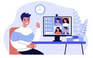 Virtual meeting illustration