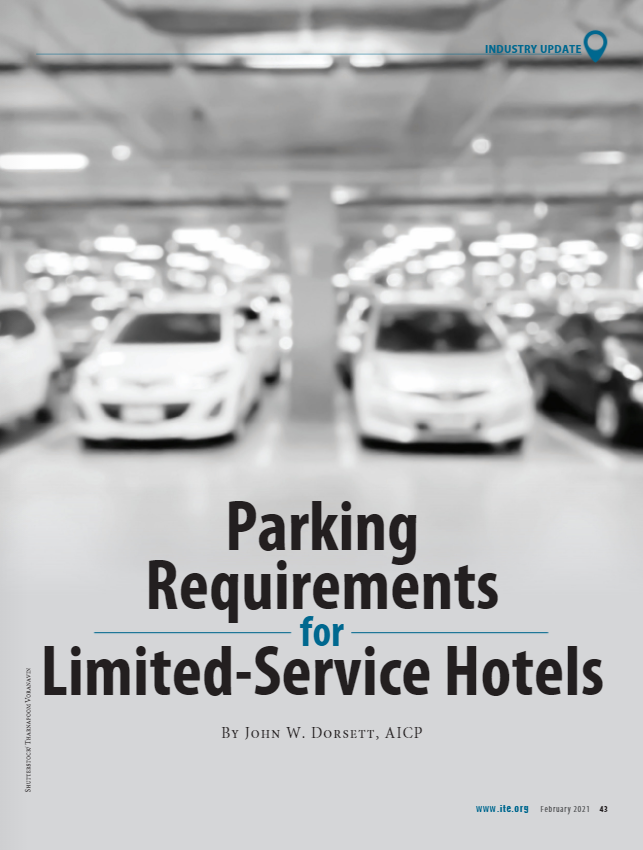 "Cover of ITE Journal Article ""Parking Requirements"""
