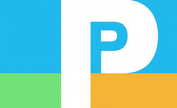 Perq logo color block collage