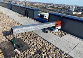 Davit base on rooftop